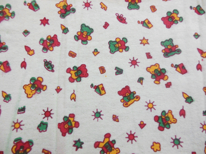 Nursery flannel fabric thenurseries for Nursery print fabric