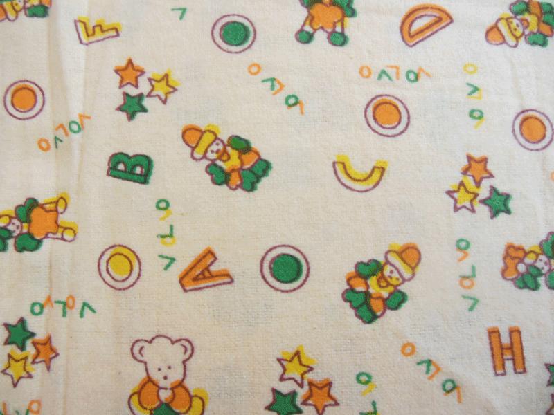 Nursery flannel baby print fabric for Nursery cotton fabric