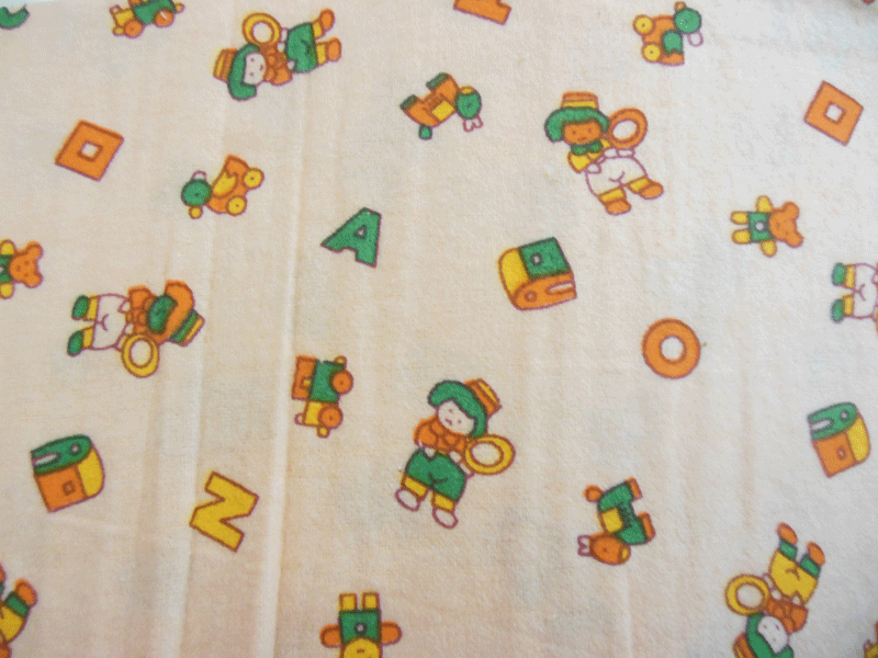 Nursery flannel baby print fabric for Nursery print fabric